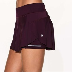 "lululemon athletica Skirts - Lululemon skirt quick pace skirt 13"" size 8"